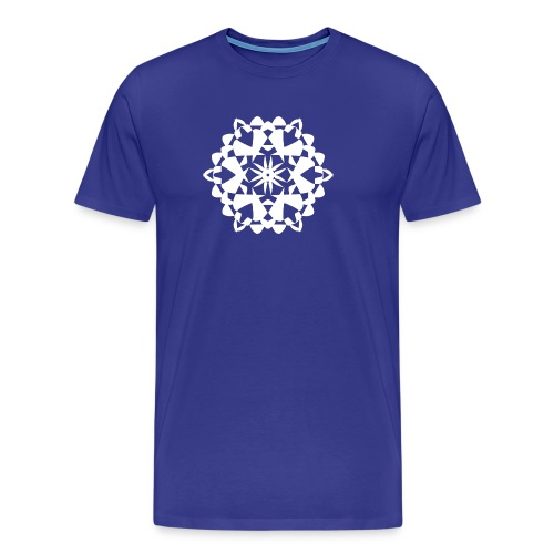 Mandala Schneeflocke - Männer Premium T-Shirt