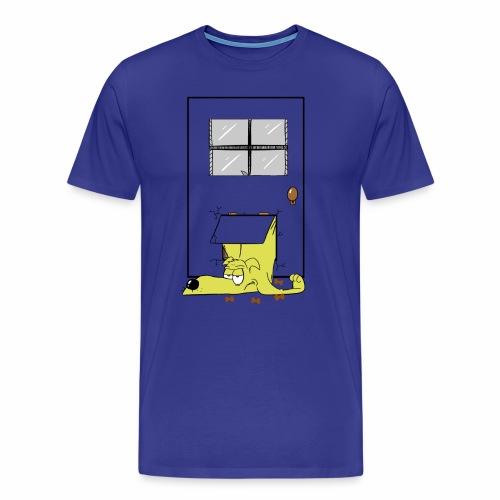 Stuck in a door dog - Men's Premium T-Shirt