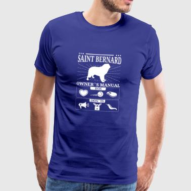 Saint Bernard ägare gåva - Premium-T-shirt herr