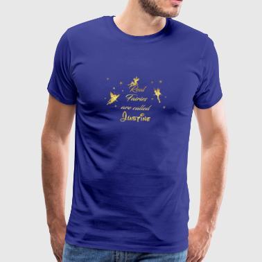 fairy fairies fairy first name Justine - Men's Premium T-Shirt