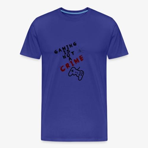 Gaming is not crime - Camiseta premium hombre