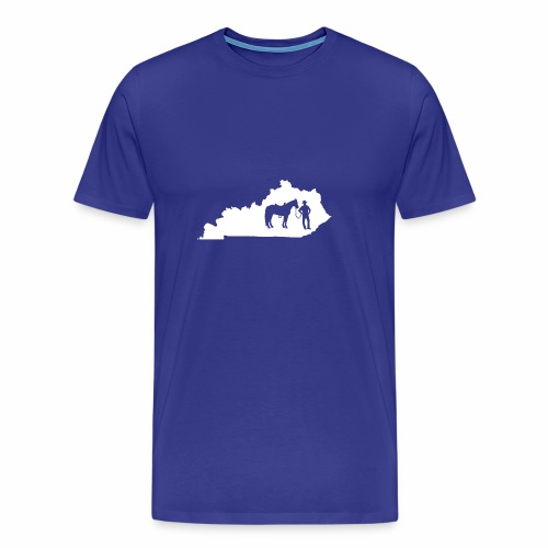 Awesome Kentucky Horse Map Riding Horseback Horse - Männer Premium T-Shirt