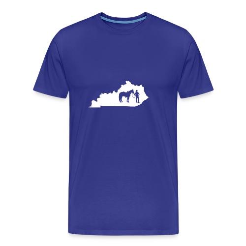Awesome Kentucky Horse Map Riding Horseback Horse - Männer Premium T-Shirt
