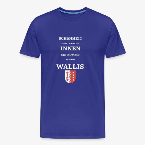 WALLIS 2 Weiss Txt - Männer Premium T-Shirt