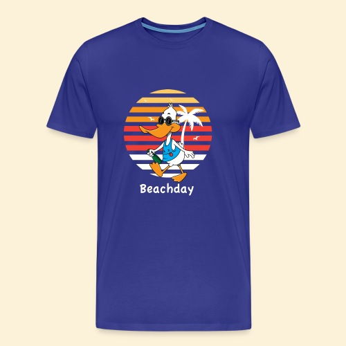 Beach Duck - Männer Premium T-Shirt