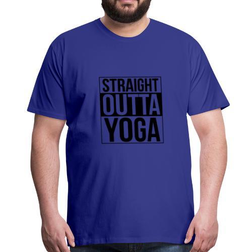 Straight Outta Yoga Design - Men's Premium T-Shirt