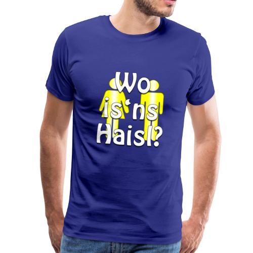 Wo Isns Haisl T Shirt Oktoberfest Toilette - Männer Premium T-Shirt