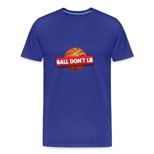Der Ball lügt nicht - Männer Premium T-Shirt