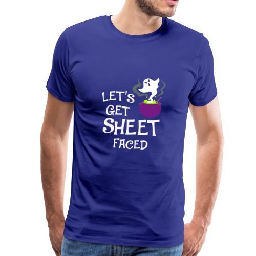 Halloween Bettlaken Gespenst T-Shirt - Männer Premium T-Shirt