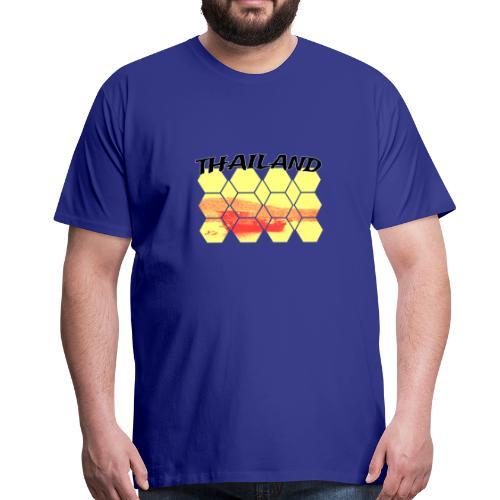Thailand Fischerboot am Strand Landschaft - Männer Premium T-Shirt