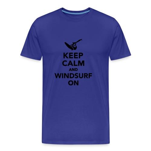 keep calm and windsurf on - Mannen Premium T-shirt