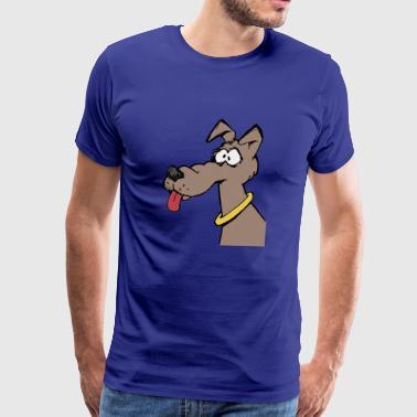 Koirat kohdata kielen ja kaulus - Miesten premium t-paita