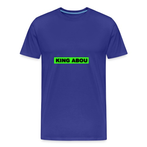 2560x1440 neon green solid color background - Mannen Premium T-shirt