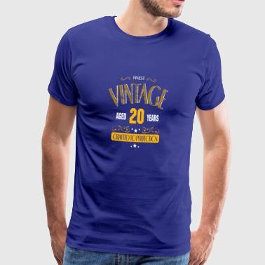 Vintage 20 ans Fabriqué à la perfection - T-shirt Premium Homme