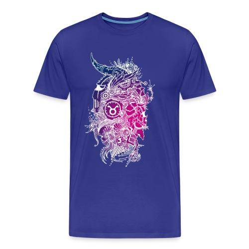Taurus Skull Zodiac Sign - Men's Premium T-Shirt
