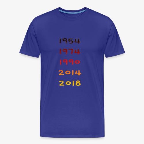 Fussball Deutschland Jahre - Männer Premium T-Shirt