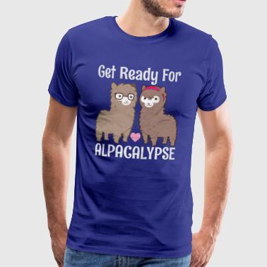 Get Ready For The Alpacalypse | Lustige Alpaka - Männer Premium T-Shirt