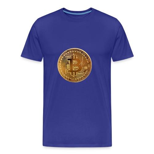 bitcoin Gold Pièce - T-shirt Premium Homme