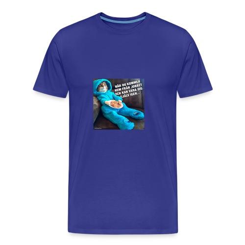 roliga-bilder-nar-du-kommer-hem-fran-jobbet-och-ka - Premium-T-shirt herr