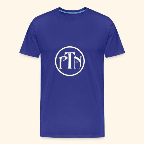 PTN-Music Logo Weiss - Männer Premium T-Shirt