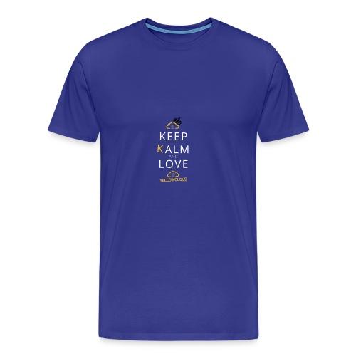 Keep kalm and love YellowCloud ! - T-shirt Premium Homme