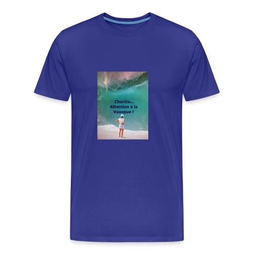 VAGUE D EAU a que la MER est BELLE - T-shirt Premium Homme