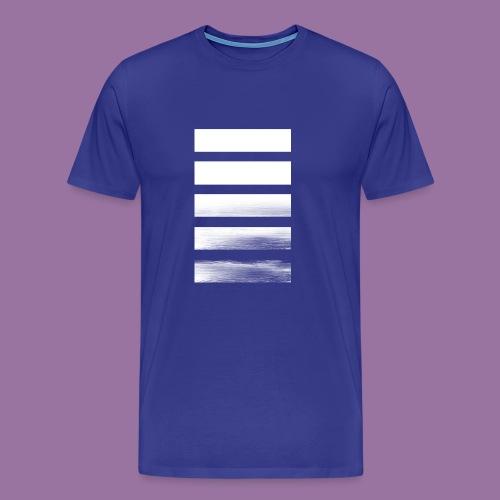 Stripes Horizontal White - Maglietta Premium da uomo