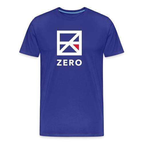 Zero logo wit cmyk - Mannen Premium T-shirt