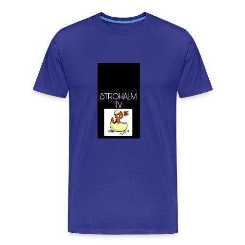 STROHALMTVLOGO - Männer Premium T-Shirt