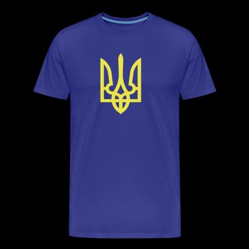 Ukraine Wappen Trident - Männer Premium T-Shirt
