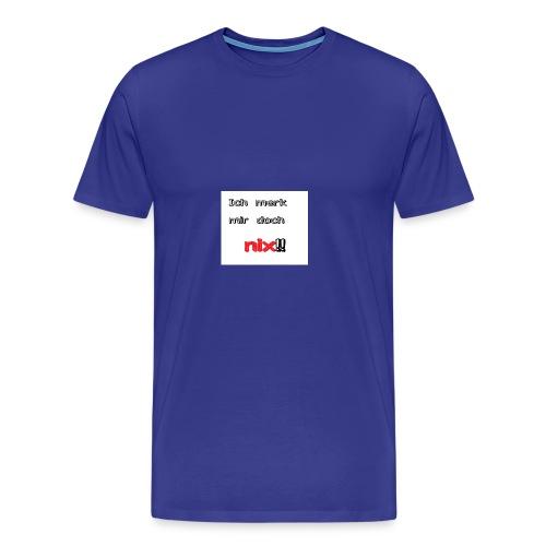 Ich merk mir doch nix - Männer Premium T-Shirt