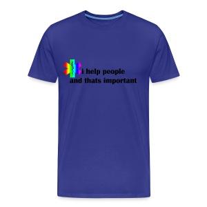 i help people - Mannen Premium T-shirt