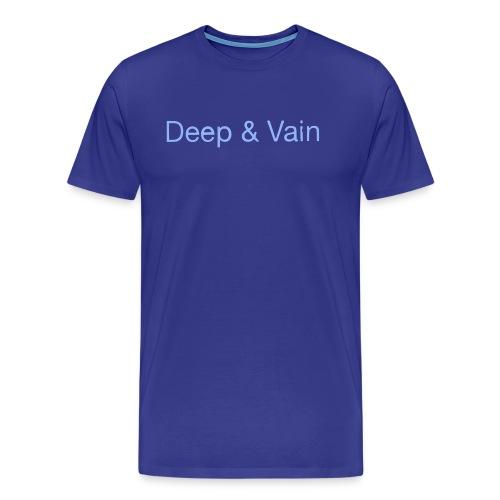 Deep&Vain Text Logo - Mannen Premium T-shirt