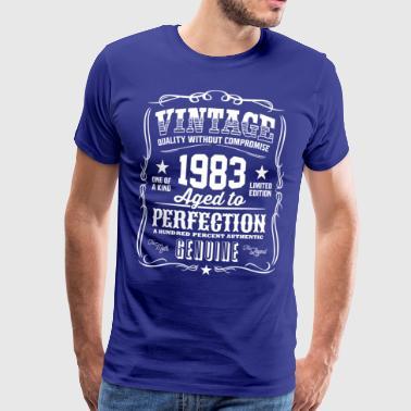 Vintage 1983 Åldrat till perfektion - Premium-T-shirt herr