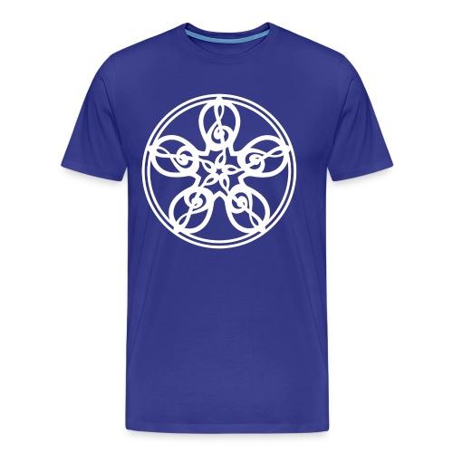 CELTIC CLEF MANDALA (white) - Men's Premium T-Shirt