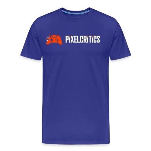 Pixelcritics Logo Schrift Links - Männer Premium T-Shirt