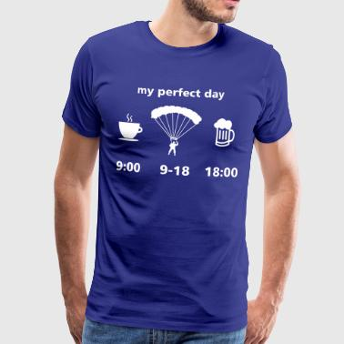 paracadutista giorno perfetto - Maglietta Premium da uomo