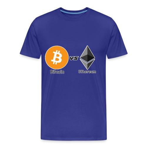 Bitcoin vs ethereum con ok - Maglietta Premium da uomo