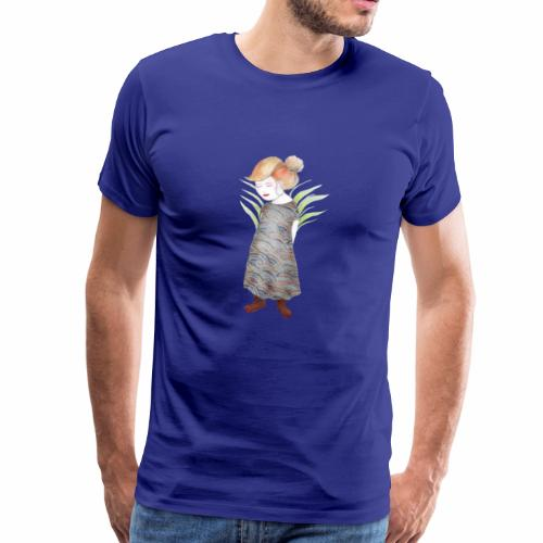 Fräulein Samurai Kinder Illustration - Männer Premium T-Shirt