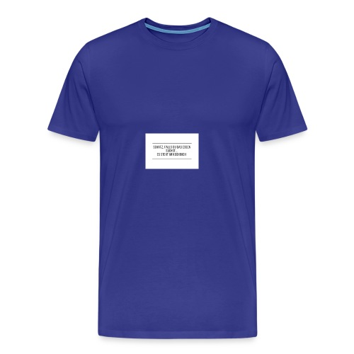 Schatz falls du das Essen suchst es steht im ko - Männer Premium T-Shirt