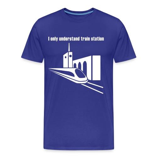 Bahnhof_Verstehen_v2_white - Männer Premium T-Shirt