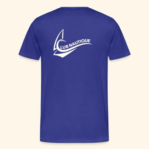 Logo Club Nautique weiß - Männer Premium T-Shirt
