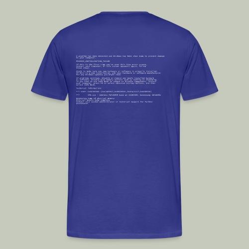 Blue Screen of Death - Männer Premium T-Shirt