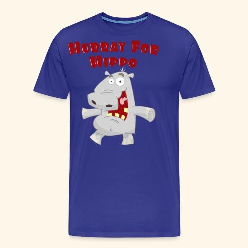 Toddlers & Kids Happy Hippo T Shirt - Men's Premium T-Shirt