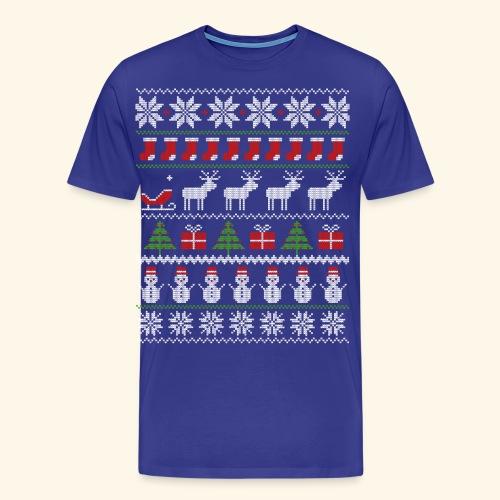 Ugly Christmas Xmas Sweater Norweger Weihnachten - Männer Premium T-Shirt