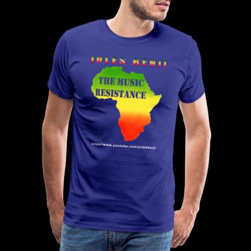 JULES BENJI & MUSIC RESISTANCE africa design - Men's Premium T-Shirt