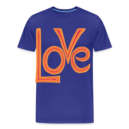 Love - Premium-T-shirt herr
