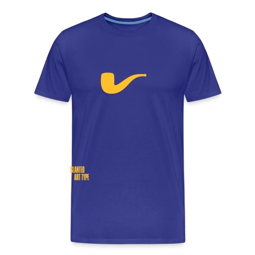 Slanted – Art Type / Blue Yellow / Man - Männer Premium T-Shirt