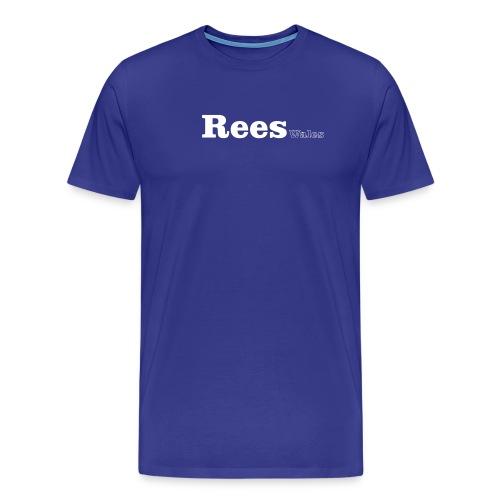 rees wales white - Men's Premium T-Shirt