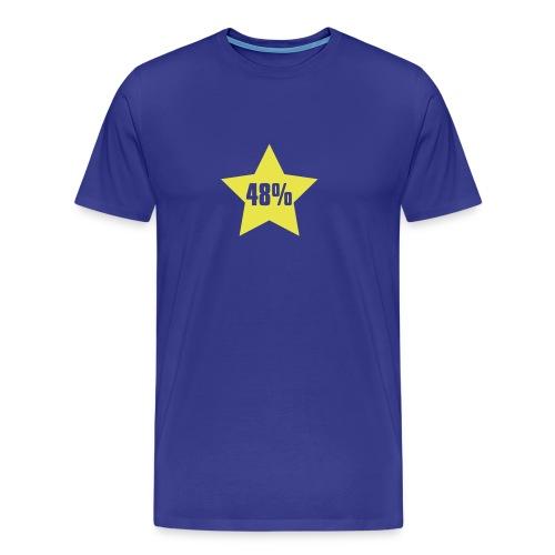 48% in Star - Men's Premium T-Shirt